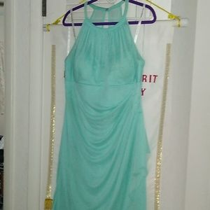 David's bridal bridesmaid dress in Seafoam Sz 16